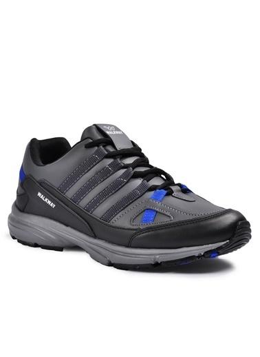 Walkway Prt-215 Siyah-Siyah Erkek Spor Ayakkabı Siyah